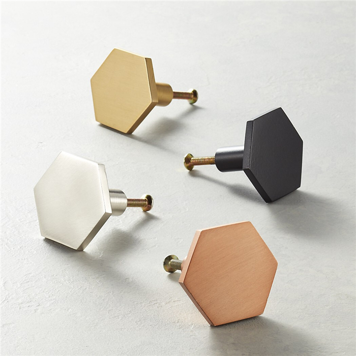 Unique Design Solid Brass Hexagon Cabinet/Furniture pull handle