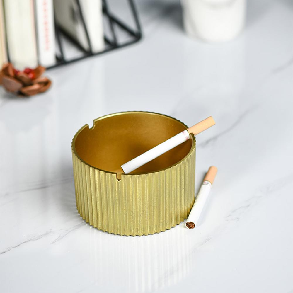 Top Quality Brass Ashtray Simple Design Home Decor Creative Practical Copper Ashtray