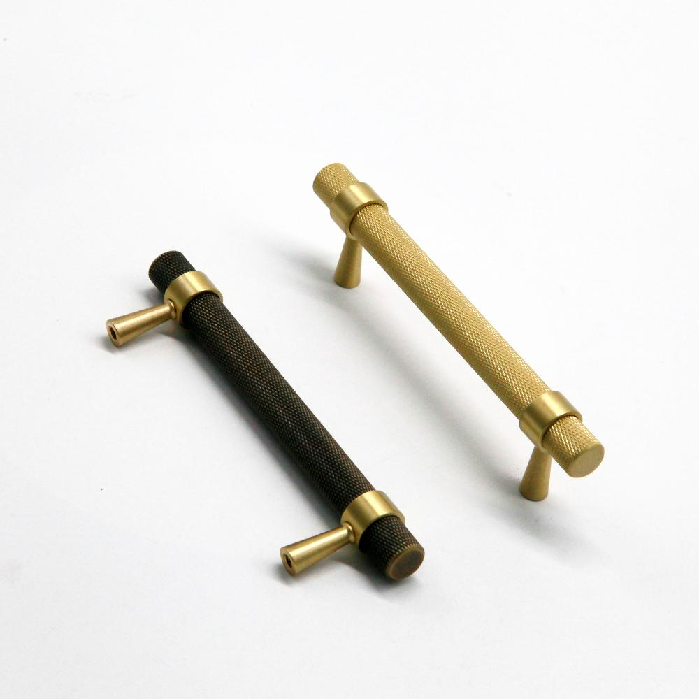 Brass Furniture Handles and Knobs Knurled Solid Brass Cabinet Knobs Replacement Door Knobs Wardrobe Pulls