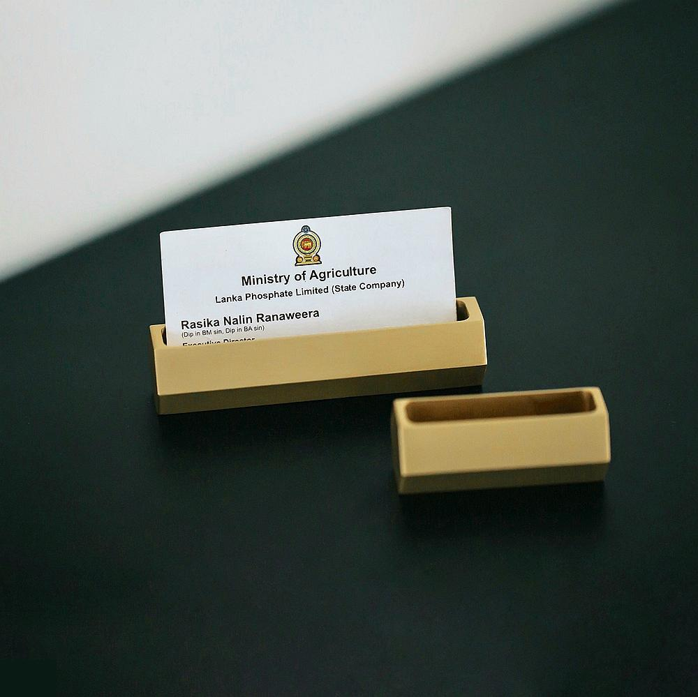 High-end Brass Business Card Case Picture Display Stand Memo Holder Business Office Card Holder