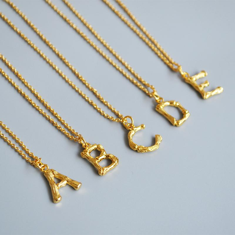 Maxery Custom 18K Gold Brass Necklace with letter Jewelry Necklace For Woman