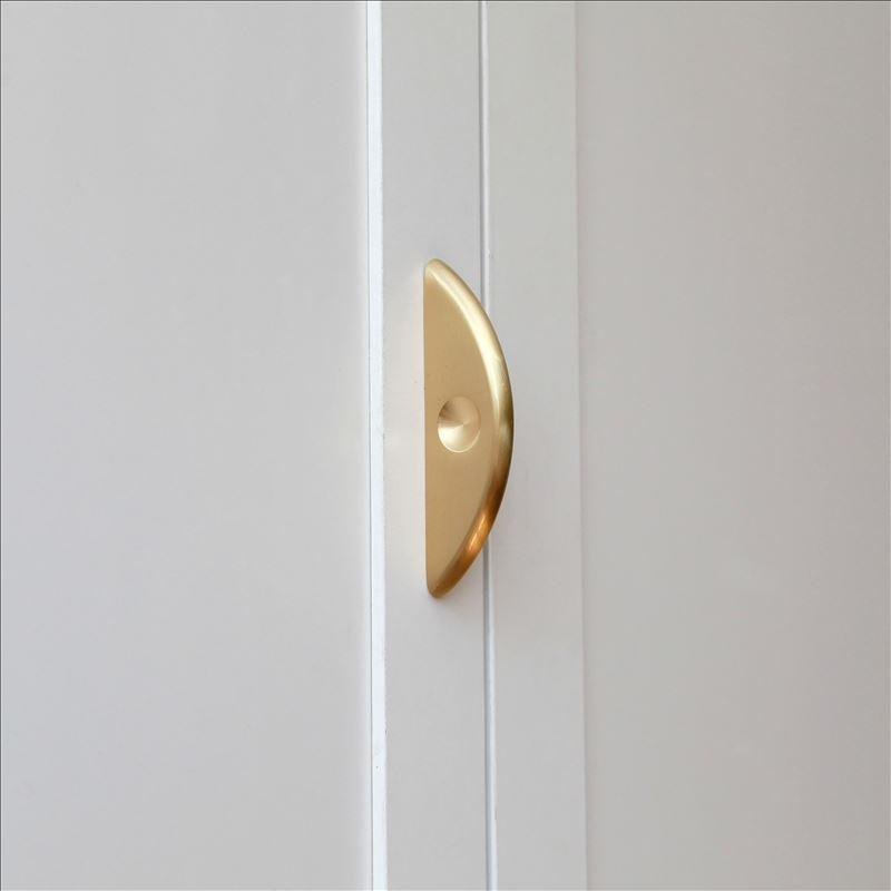 MAXERY Semicircle Brass Handles For Kitchen And Bedroom