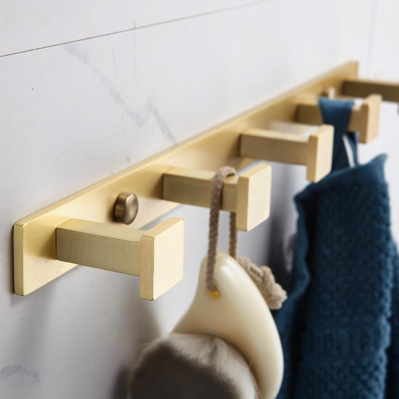 MAXERY Brass Row Hook Square Shape Hook