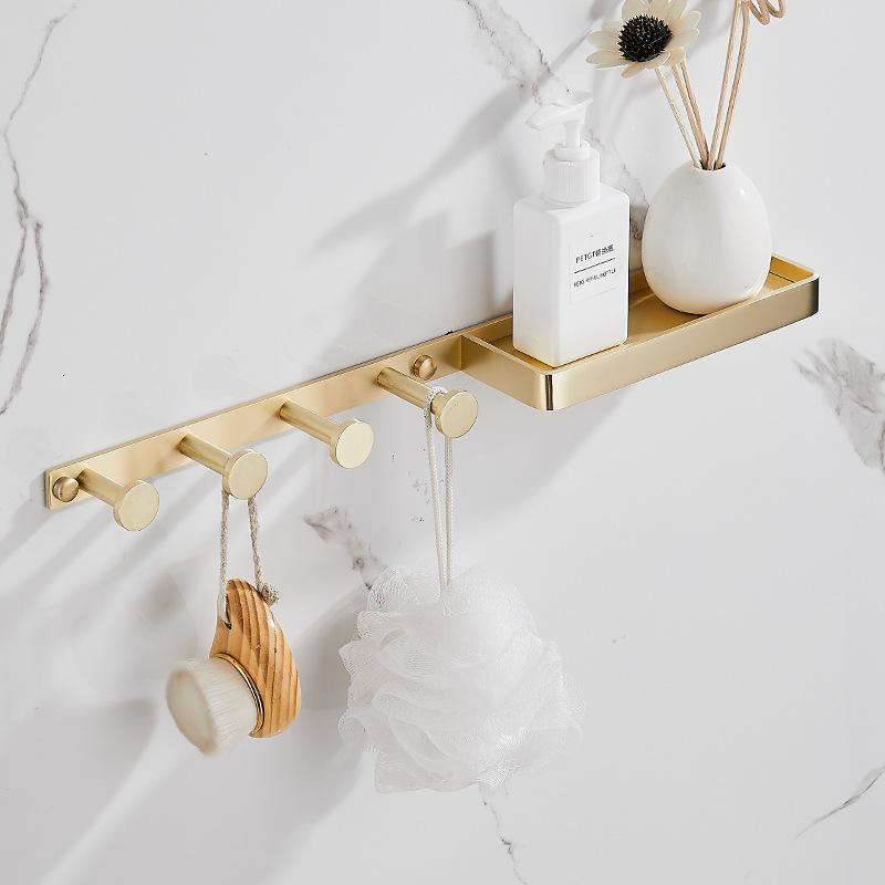 MAXERY Brass Wall Hook With Storage table