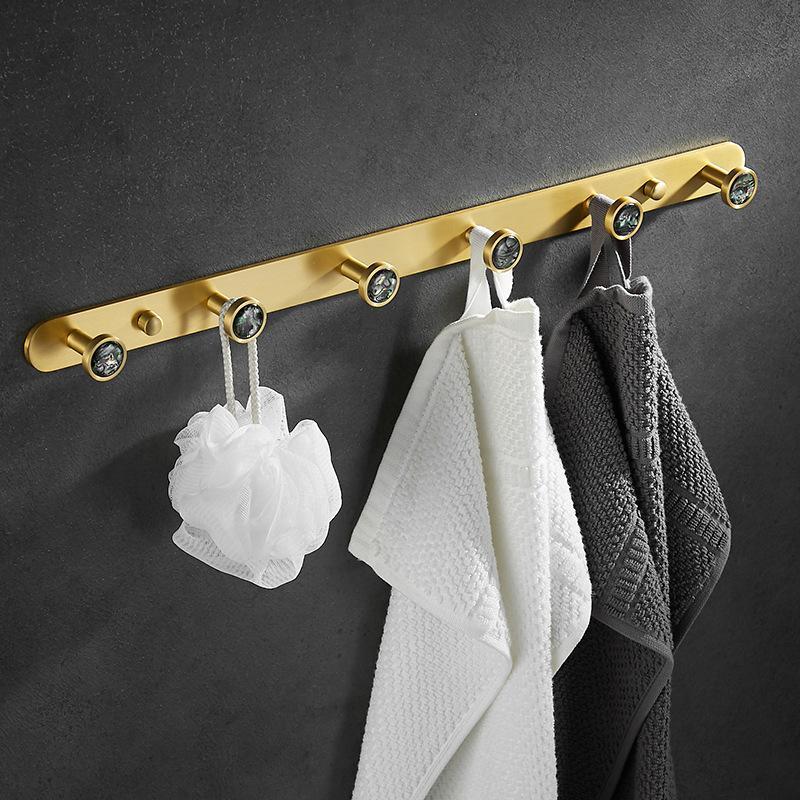 MAXERY Aluminium Alloy Row Hook For Coats And Towels