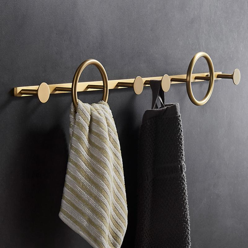 MAXERY Brass Row Hanger Circle Hook
